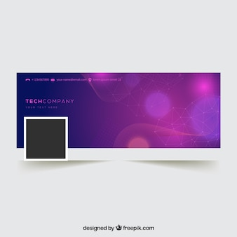 Bokeh purple facebook cover