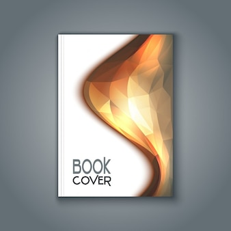 Book cover with polygonal design