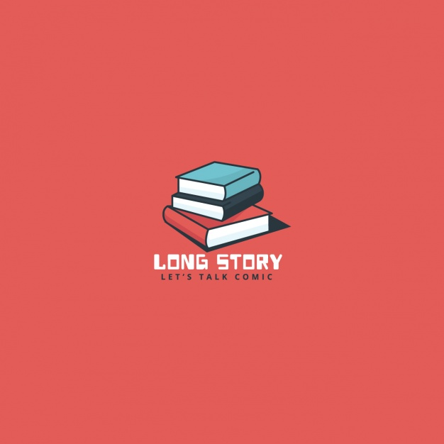 Book logo on a red background