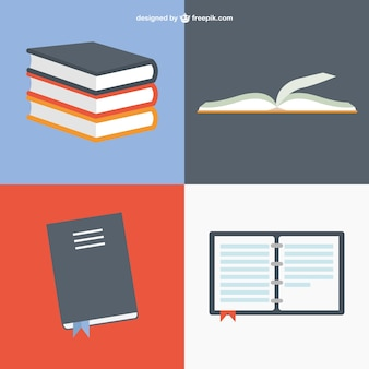 Books in different positions