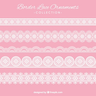 Border lace ornaments set