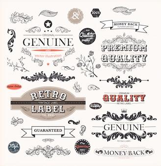 Border ornamental quality label calligraphic