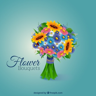 Bouquet with varied flowers