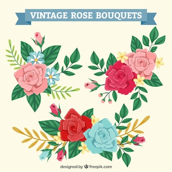 Bouquets of vintage roses