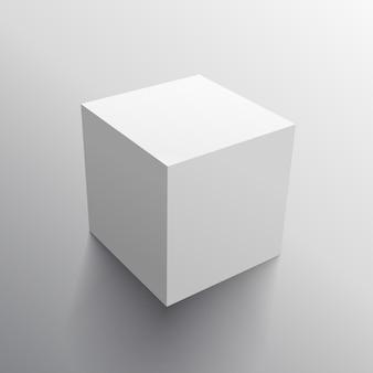 リアルな3Dキューブボックスのデザインテンプレート