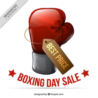Boxing day background with boxing glove