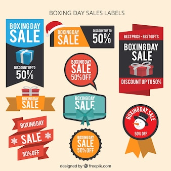 Boxing day sale labels