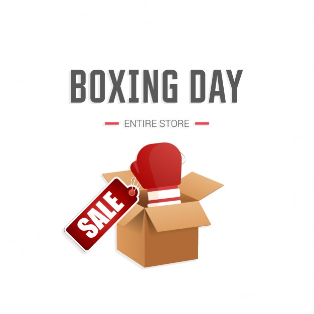 Boxing day with a 3d box