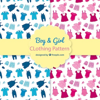 Boy and girl clothing patterns