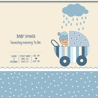 Boy baby shower card