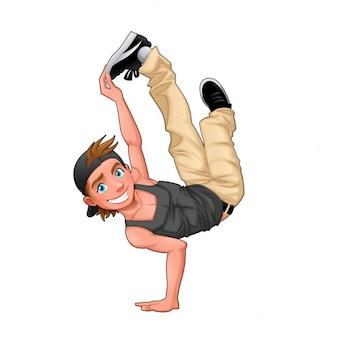 Boy dancing breakdance