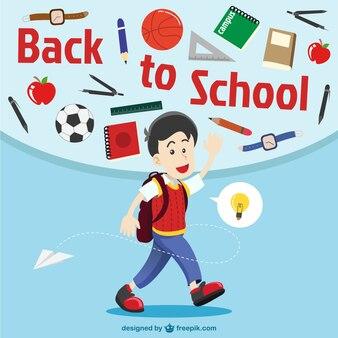 Boy illustration, back to school
