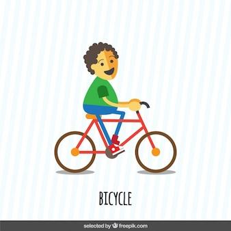 Boy riding a bike