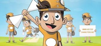 boy vector character