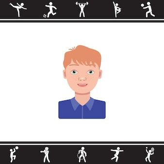 Boy. vector illustration