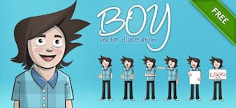 boy vector illustration