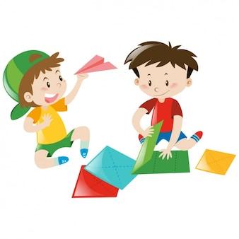 Boys playing design