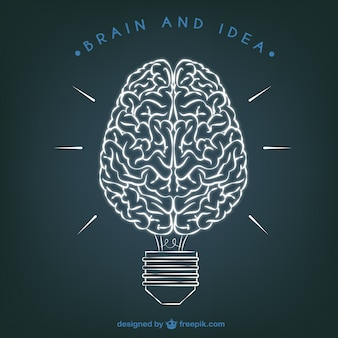 Brain and Idea illustration