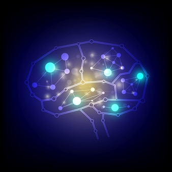 Brain connections background