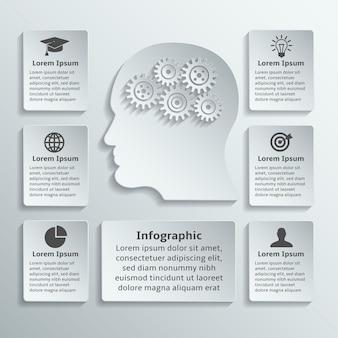 Brain infographic template