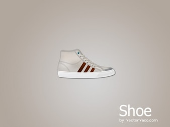 Branded canvas shoe