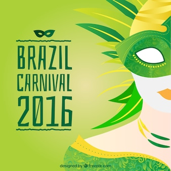 Brazil carnival background in green tones