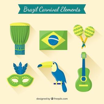 Brazil carnival elements