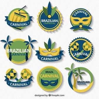 Brazil carnival flat badges