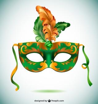 Brazil carnival mask party time