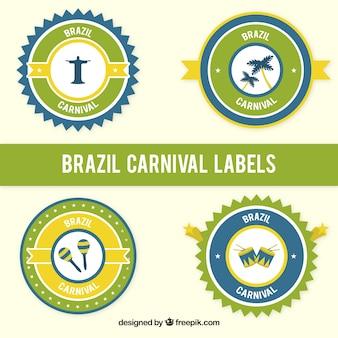 Brazil carnival stikers