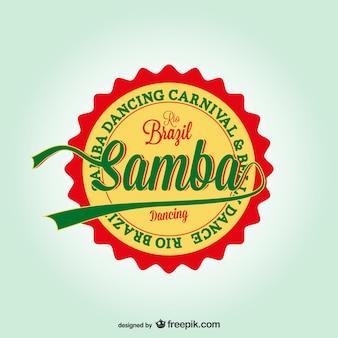 Brazil carnival vector Samba dance