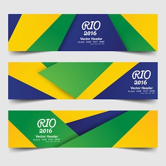 Brazil color banners