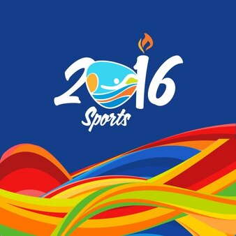 Brazil wavy modern sports background