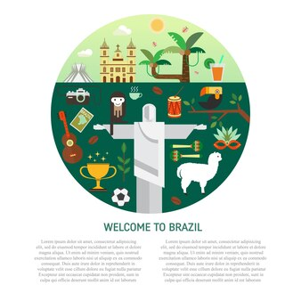 Brazilian background design