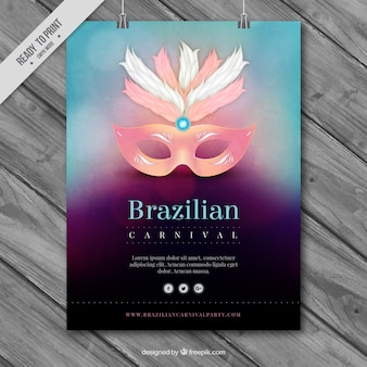 Brazilian carnival brochure with blurred effect