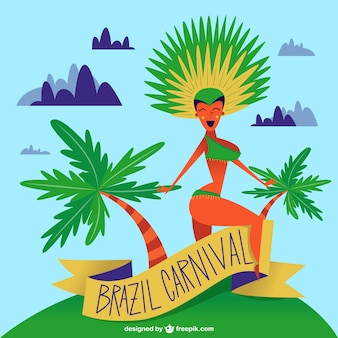 Brazilian dancer background