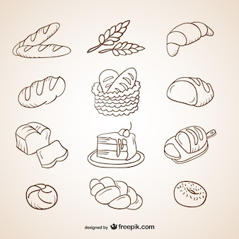 Bread scribbles collection