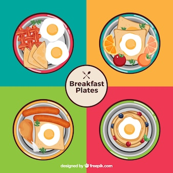Breakfast plates collectio