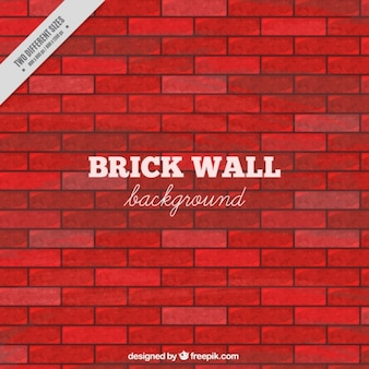 Brick wall in red tones