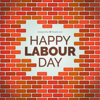 Brick wall labor day background