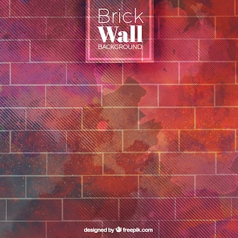 Brick wall with watercolors