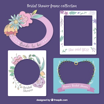 Bridal shower frames with great designs