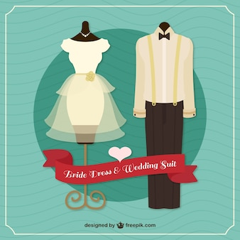 Bride dress and wedding suit design