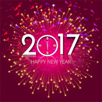 Bright abstract background of 2017