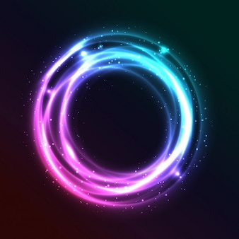 Bright abstract circle background