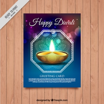 Bright abstract diwali festival brochure