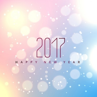 Bright background with bubbles for new year