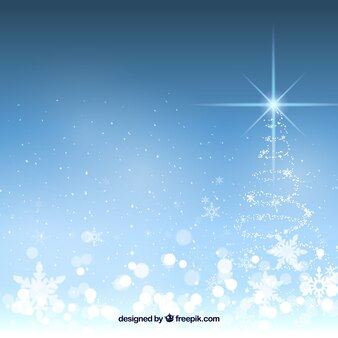 Bright background with christmas tree