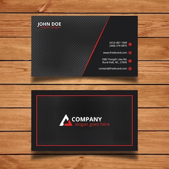 Bright black and red corporate card