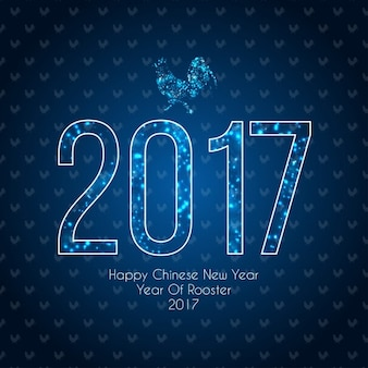 Bright blue background for chinese new year